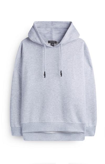 Grey Side Split Hoodie