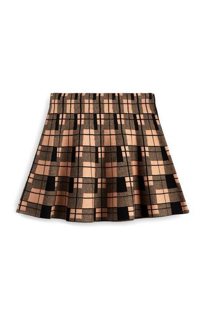 Check Skater Skirt