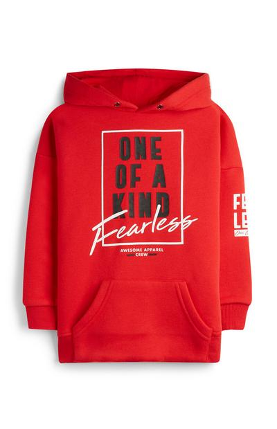 Younger Boy One Of A Kind Red Hoodie