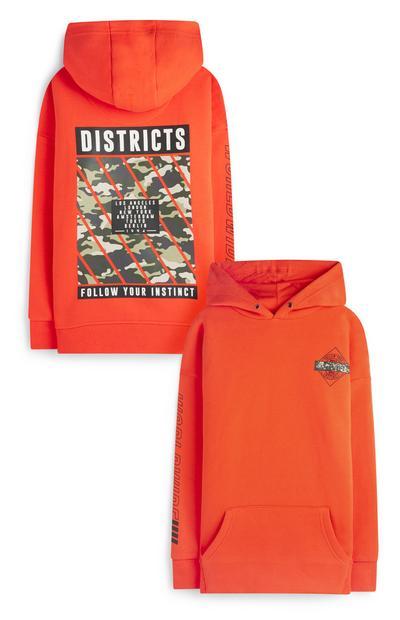 Older Boy Orange District Hoodie