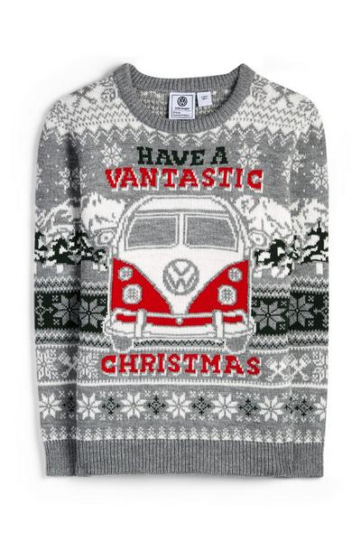 Older Boy Grey Have A Vantastic Christmas Jumper