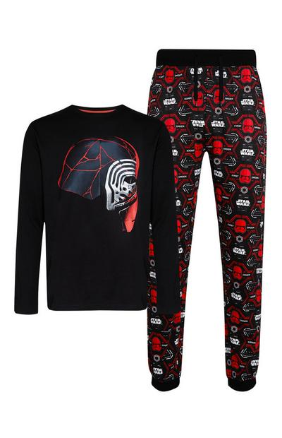 Red And Black Star Wars Pyjama Top And Trousers