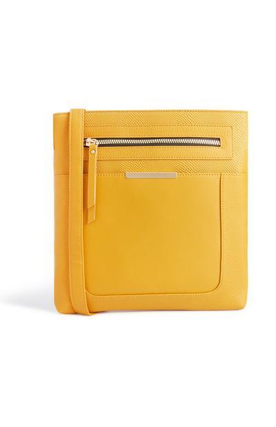 Mustard Large Messenger Bag