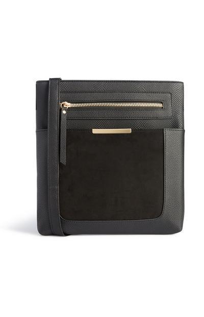 Große Messenger-Tasche in Schwarz