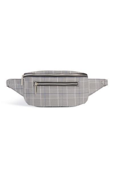 Grey Check Bum Bag
