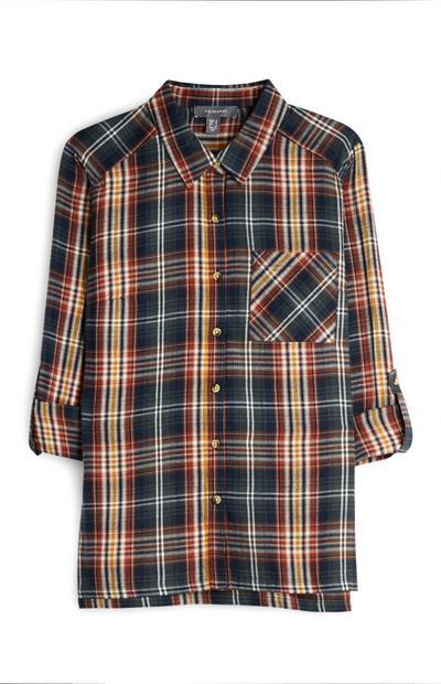 Multi-Coloured Check Shirt