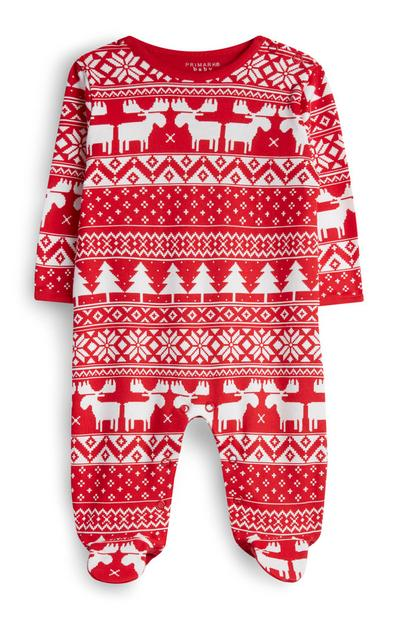 Baby Girl Fair Isle Babygrow