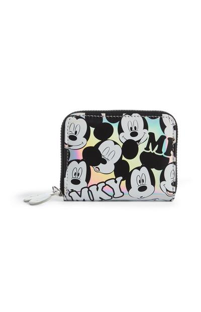 Mickey Mouse Holographic Silver Purse