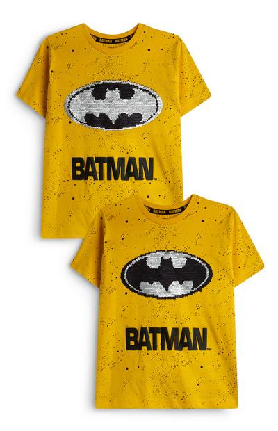 Younger Boy Brushed Sequin Batman T-Shirt