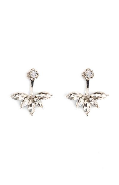 Diamante Drop Stud Earrings