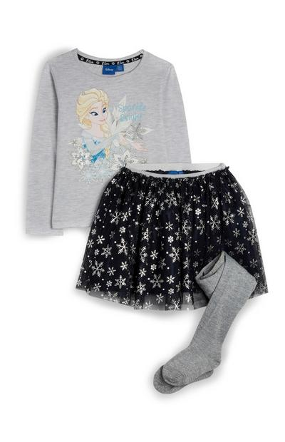 Younger Girl Frozen Tulle Skirt and Elsa Tshirt Set