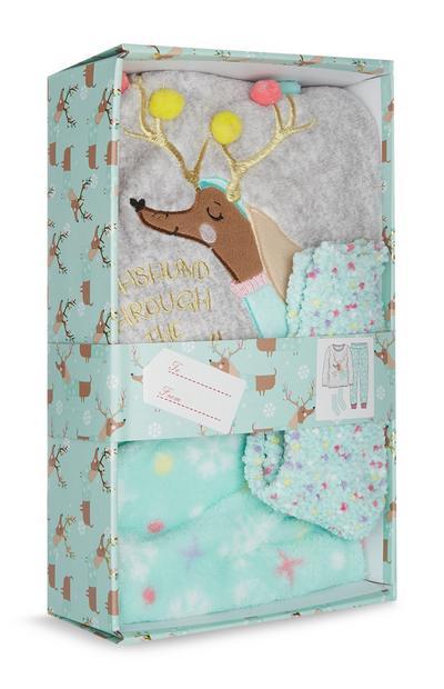 Reindeer Pyjama Gift Box