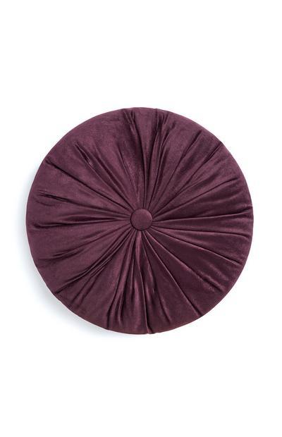 Purple Round Button Cushion