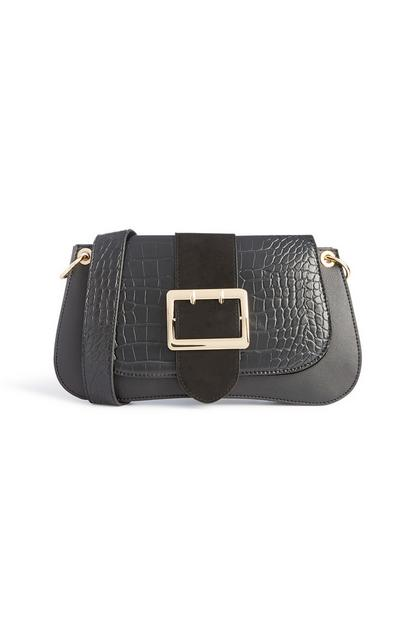 Black Buckle Shoulder Bag