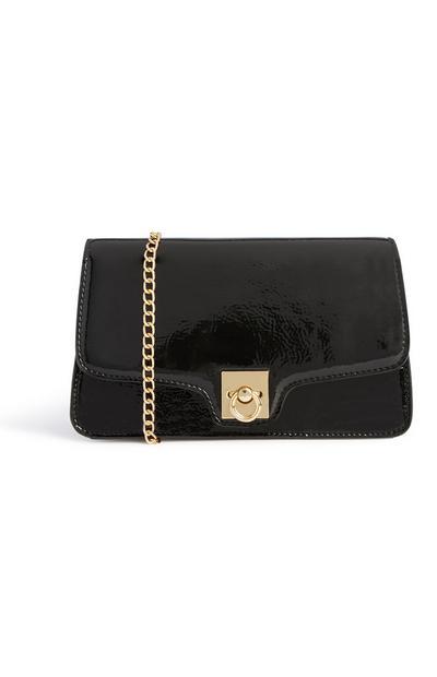 Schwarze glänzende Tasche