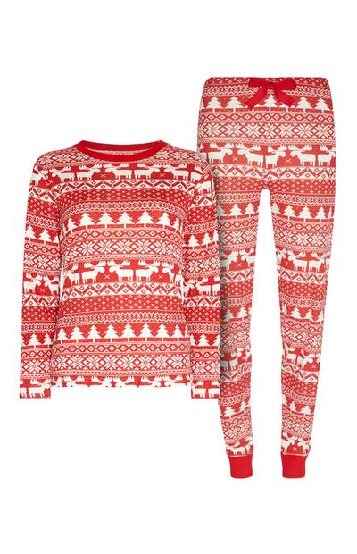 Red Christmas Pyjama Set