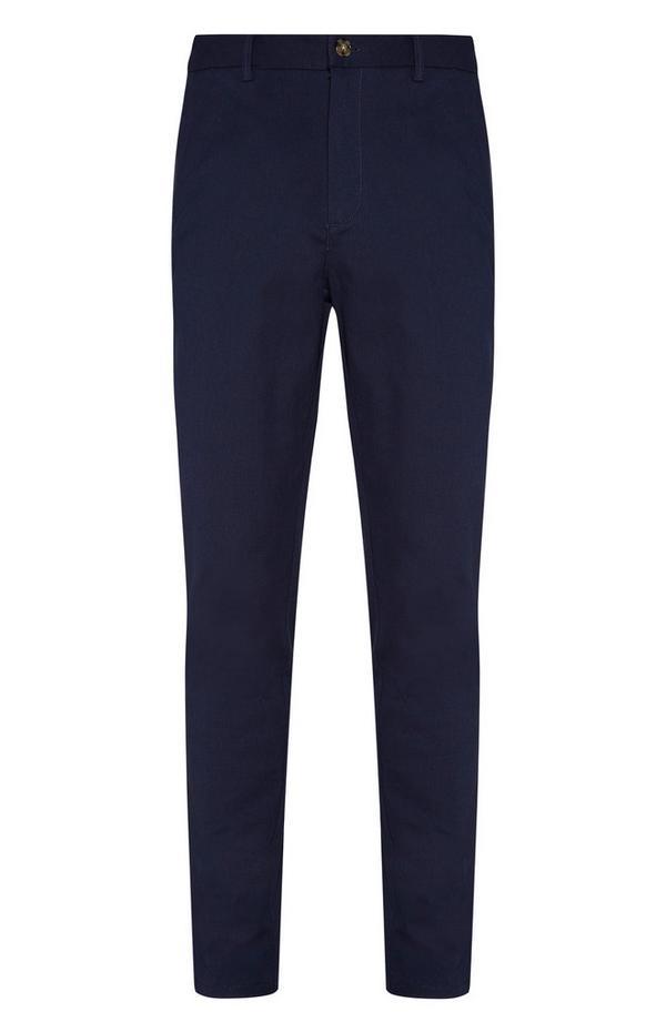 Navy Slim Trousers