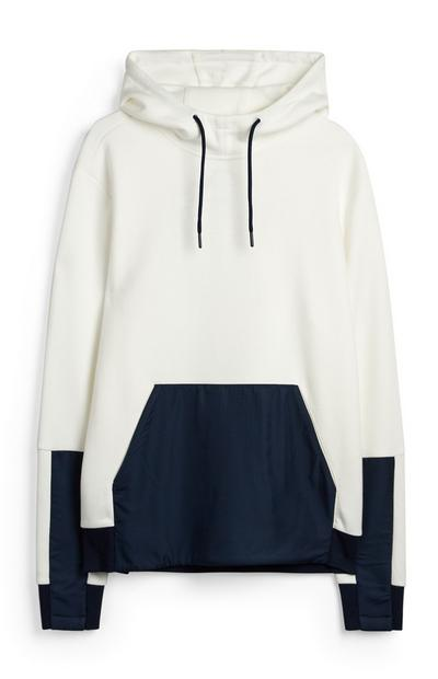 White And Navy Hoodie