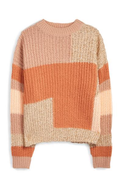 Colour Block Patchwork Jumper