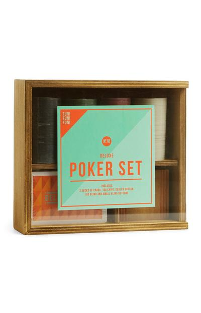 Wooden Poker Set