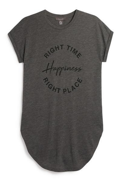 Anthrazitfarbenes T-Shirt mit Spruch