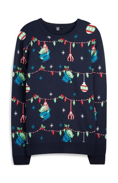 Navy Toy Story Aliens Christmas Jumper