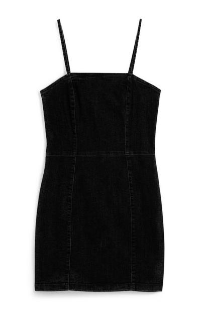Black Denim Mini Dress
