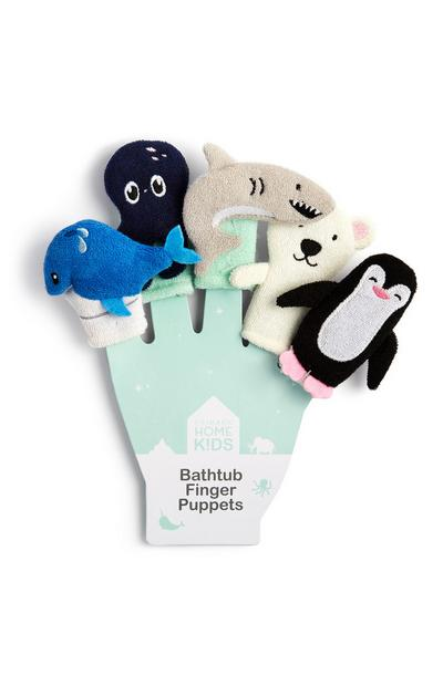 Animal Bathtub Finger Puppets