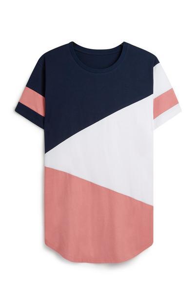 Diagonal Colour Block T-Shirt
