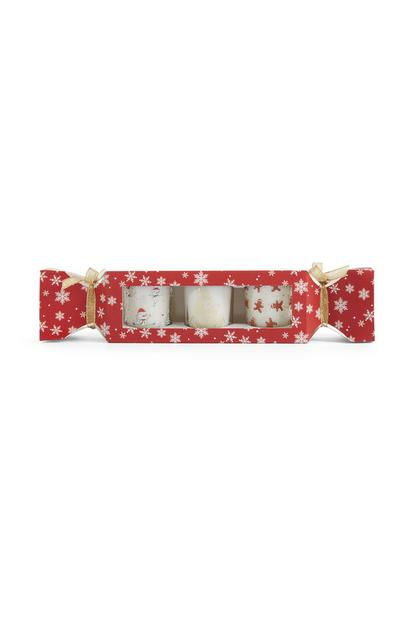 Christmas Candle 3Pk Cracker