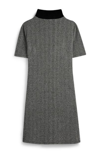 Ribbed Grey Tunic Dress