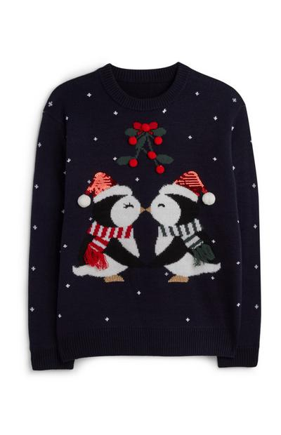 Penguin Kiss Christmas Jumper