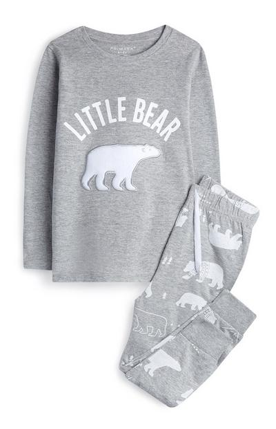 Younger Girl Grey Little Bear Pyjamas