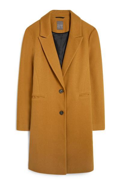 Mustard Crombie Coat