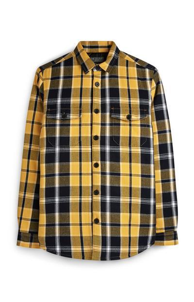 Yellow Check Shacket