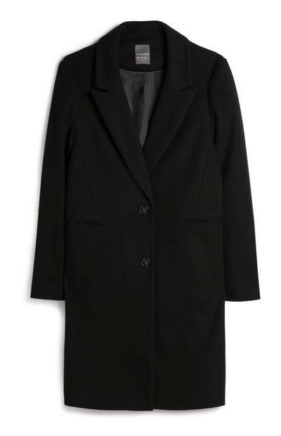 Black Crombie Coat
