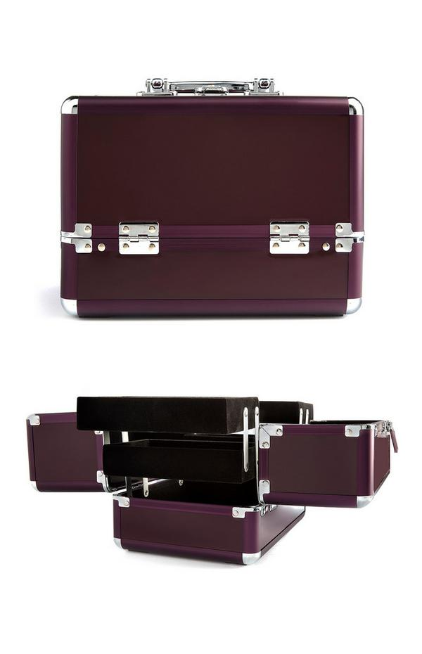 Mittelgroße Kosmetiktasche in Violett