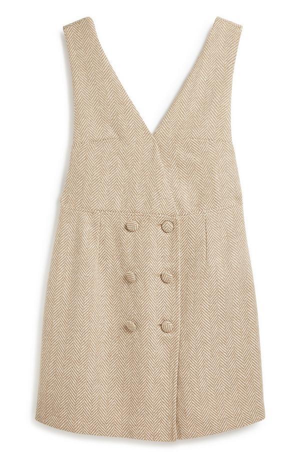 Stone Pinafore Dress