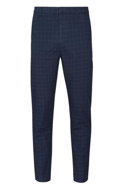 Navy Stretch Slim Trousers