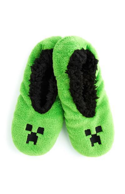 Green Minecraft Slippers