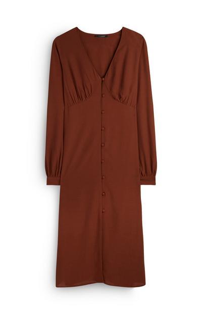 Tan Midi Dress