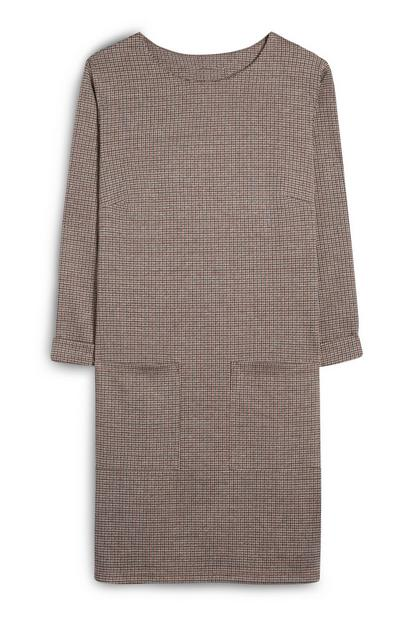 Grey And Brown Jersey Tunic