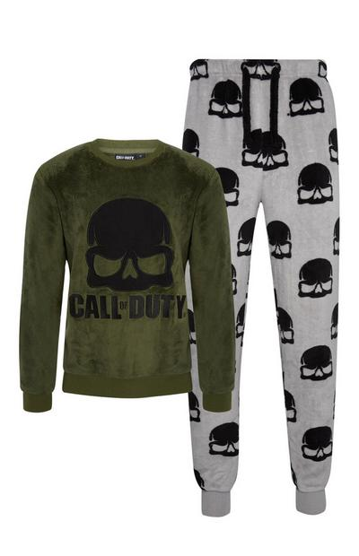 Khaki Call Of Duty 2Pc Pyjama Set