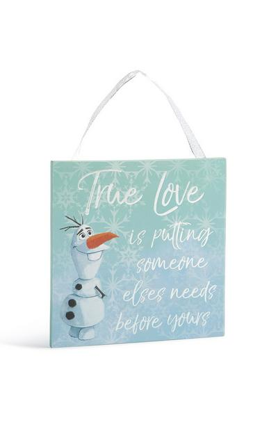Frozen Olaf True Love Quote Wall Hanging
