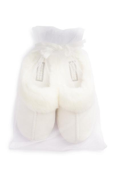 Cream Slippers Gift Bag