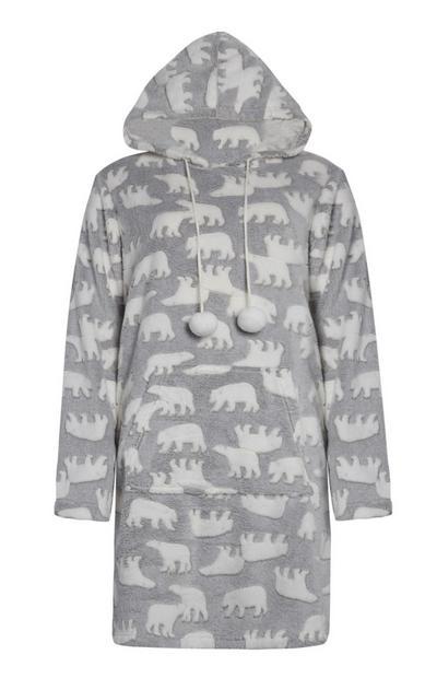 Grey Polar Bear Pyjama Hoodie