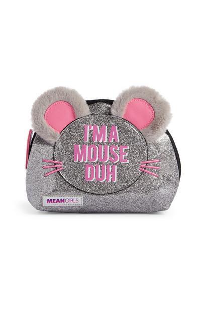 Pink Glitter Mouse Makeup Bag