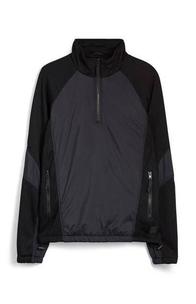 Black Half Zip Top