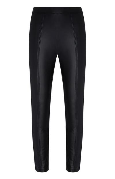 Black Pu Trousers