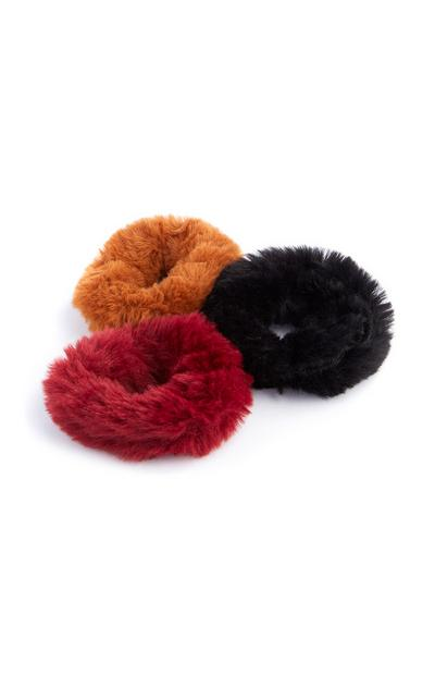 Fluffy Scrunchie 3Pk